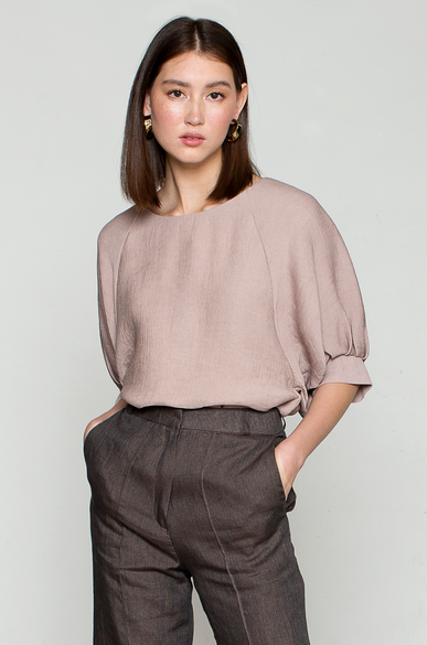 OLIVIA NZ Store online | Everlasting Pleates Blouse / Indi Pink