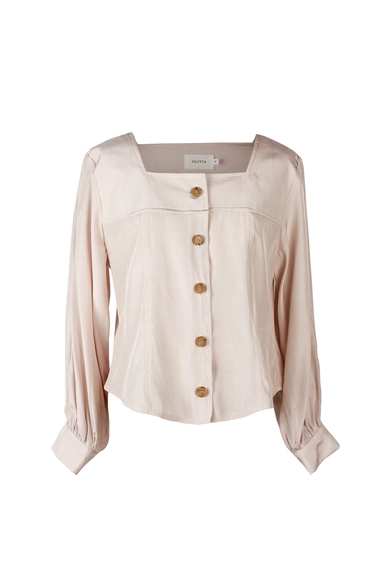 OLIVIA NZ Store online | Eleanor Retro Blouse / Pink - OLIVIA NZ