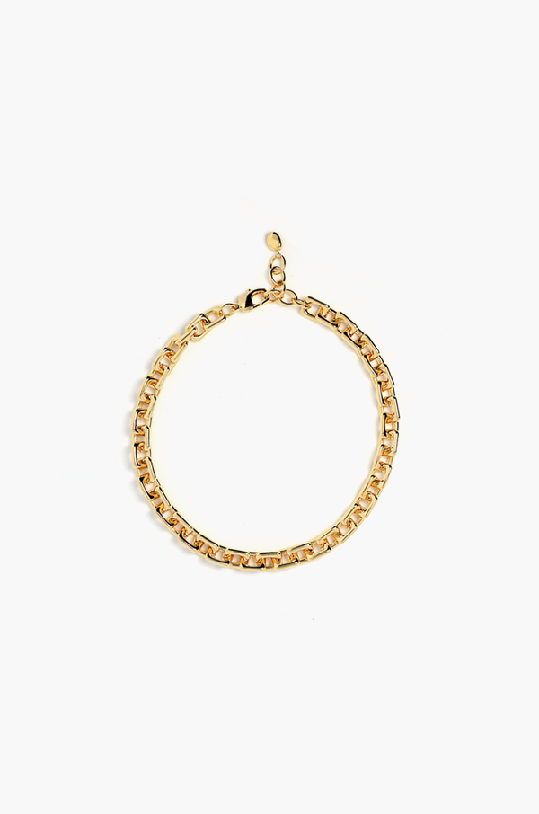 Square Chain Necklace / Gold