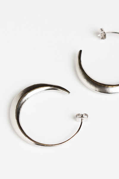 OLIVIA NZ Store online | Otto Hoop Large Earrings / Silver