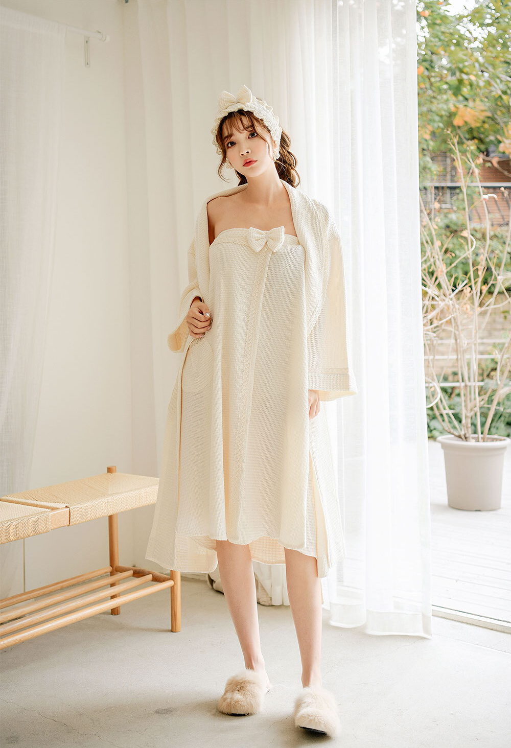 OLIVIA NZ Store online | Maite Waffle Gown