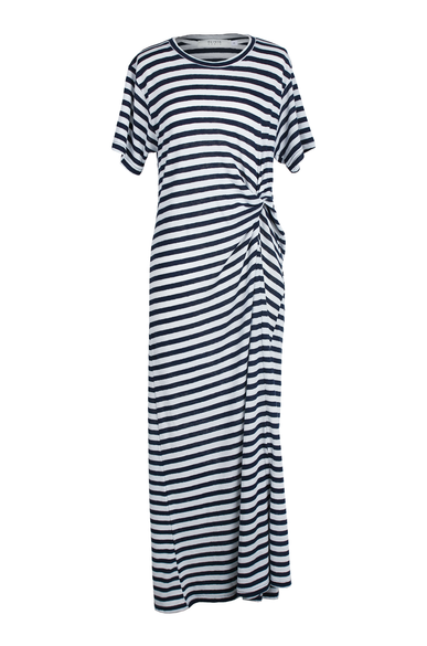 OLIVIA NZ Store online | Sasha Striped Dress / Navy - OLIVIA NZ