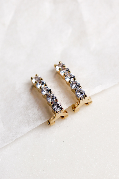 OLIVIA NZ Store online | Trinity Clip Earrings / Gold |