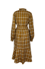 OLIVIA NZ Store online | Ariel Check Belt Dress / Yellow |