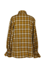 OLIVIA NZ Store online | Ariel Puff Sleeve Check Shirt / Yellow |