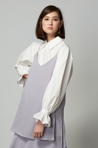 OLIVIA NZ Store online | Ariel Puff Sleeve Shirt / Cream