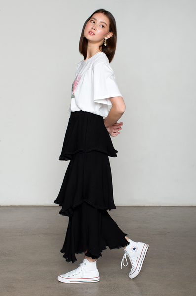 OLIVIA NZ Store online | Honey Tiered Skirt / Black