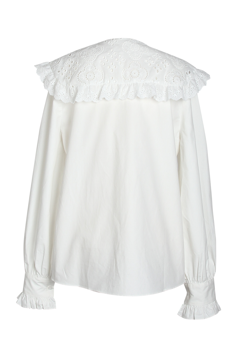 Darling Eyelet Collar Blouse / Cream