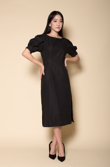 OLIVIA NZ Store online | Estella Linen Dress / Black