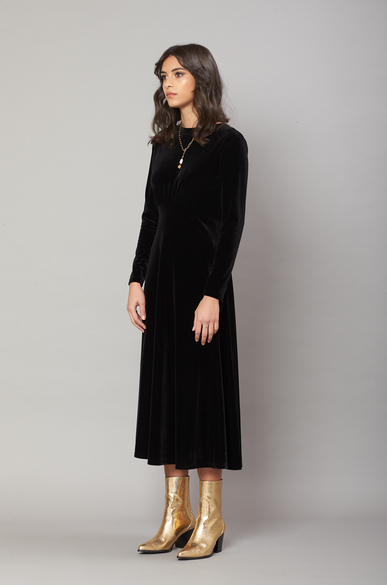 OLIVIA NZ Store online | Grace Velvet Dress / Black