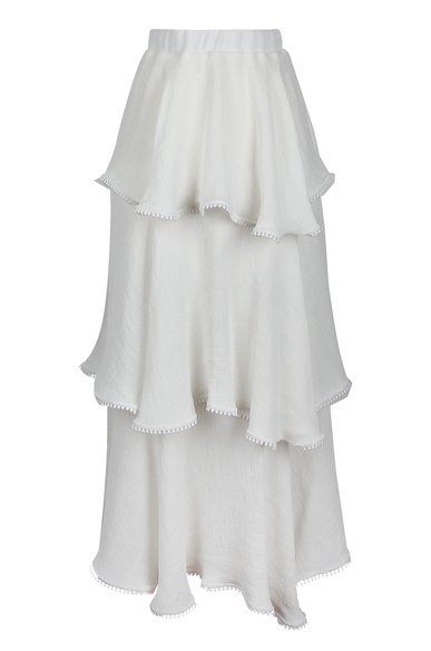OLIVIA NZ Store online | Honey Tiered Skirt / Cream