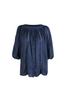 OLIVIA NZ Store online | Ines Flowy Blouse / Navy |