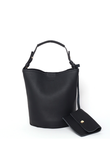 OLIVIA NZ Store online | Kira Leather Bucket Bag / Black