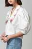 OLIVIA NZ Store online | Lady Embroidered Collar Blouse / Cream |