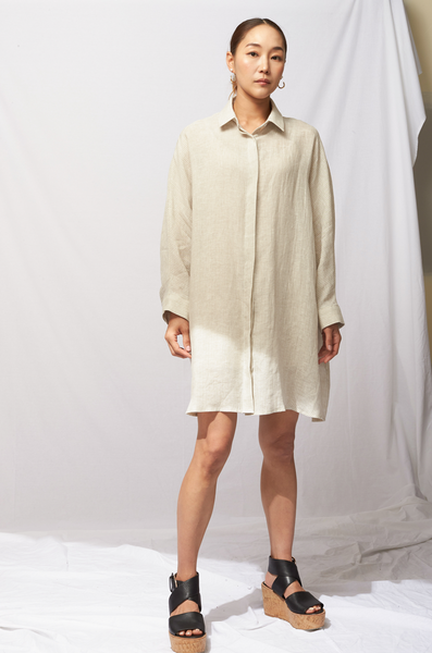 OLIVIA NZ Store online | Leighton Long Shirts / Beige |