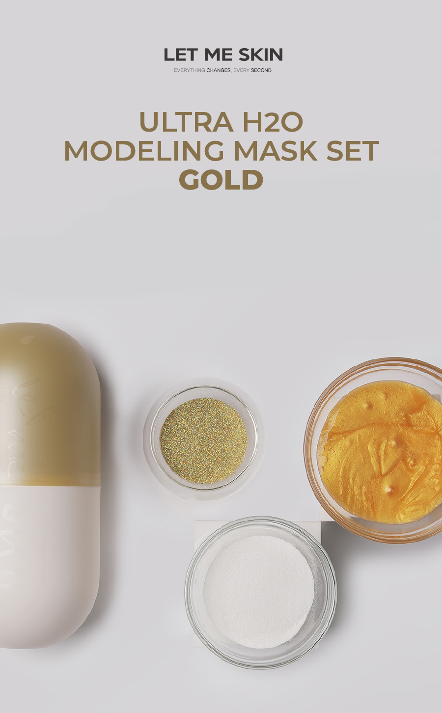 OLIVIA NZ Store online | Ultra H2O Modeling Mask Set / Gold