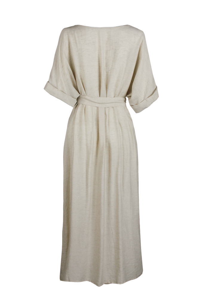 OLIVIA NZ Store online | Mariana Wrap Dress / Beige