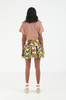 OLIVIA NZ Store online | Anemone Smocked Skirt / Brown |