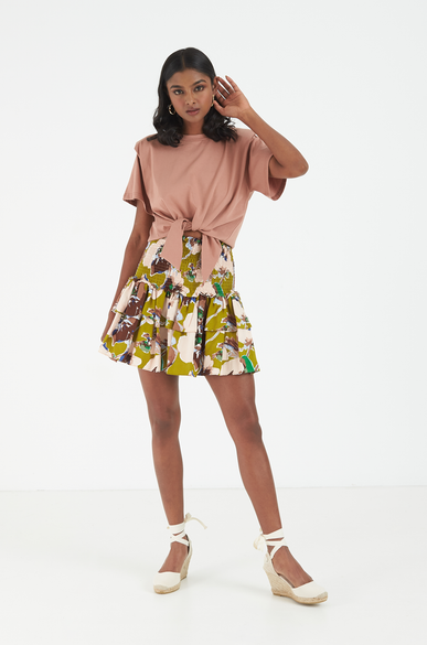 OLIVIA NZ Store online | Anemone Smocked Skirt / Brown