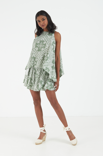 OLIVIA NZ Store online | Paisley Shorts / Sage Green