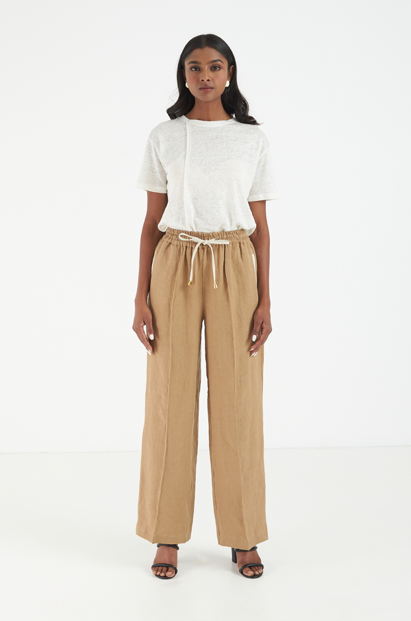 Journey Linen Pants / Beige