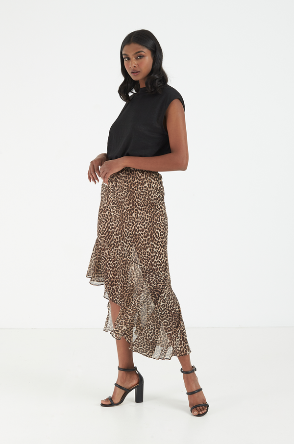 Serenity Leopard Skirt / Brown