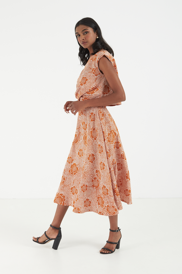 Camelia Skirt / Burnt Orange