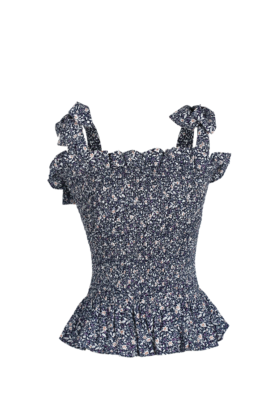 OLIVIA NZ Store online | Pansy Smoke Top / Navy