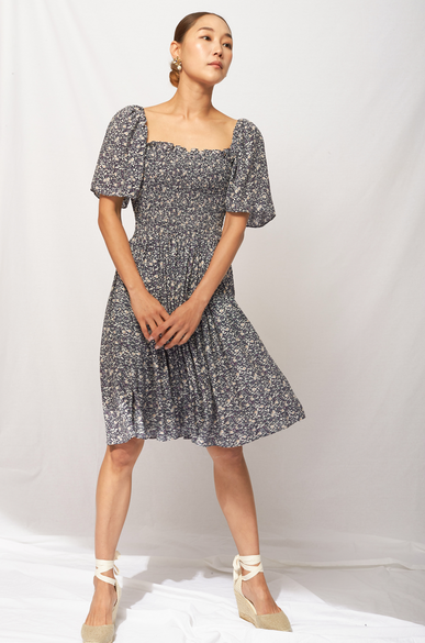 OLIVIA NZ Store online | Pansy Smocked Dress / Navy