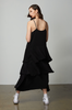 OLIVIA NZ Store online | Paris Ruffle Slip Dress / Black |