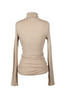 OLIVIA NZ Store online | Ribbed High Neck Top / Beige |