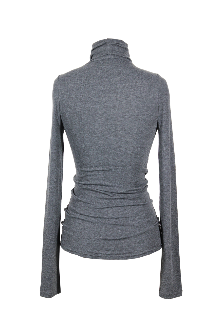 OLIVIA NZ Store online | Ribbed High Neck Top / Charcoal