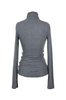 OLIVIA NZ Store online | Ribbed High Neck Top / Charcoal |