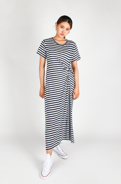 OLIVIA NZ Store online | Sasha Striped Dress / Navy