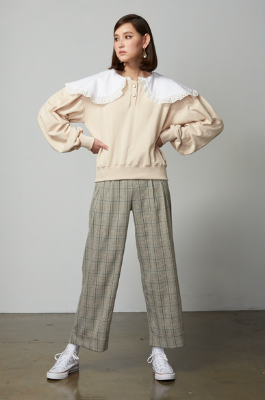 OLIVIA NZ Store online | Sweetheart Checked Pants / Sage Green
