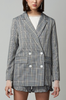 OLIVIA NZ Store online | Sweetheart Checked Blazer / Navy |