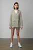 OLIVIA NZ Store online | Sweetheart Checked Blazer / Sage Green |