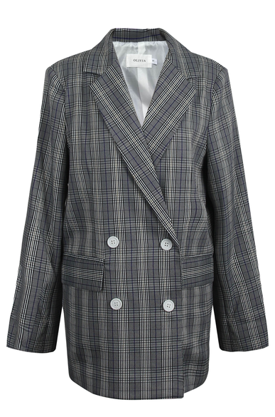 OLIVIA NZ Store online | Sweetheart Checked Blazer / Navy