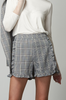OLIVIA NZ Store online | Sweetheart Checked Shorts / Navy |