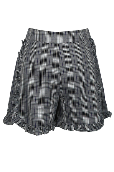 OLIVIA NZ Store online | Sweetheart Checked Shorts / Navy