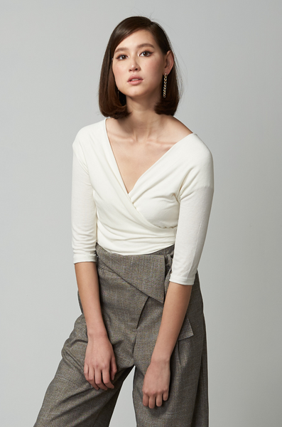 OLIVIA NZ Store online | Sweetie Wrap Top / Cream