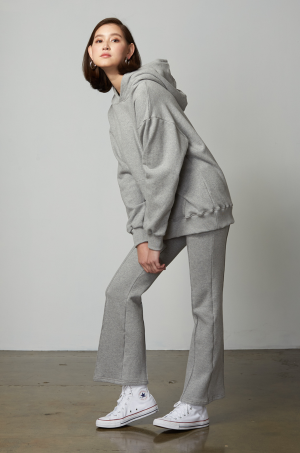 Vika Fleeced Flared Sweatpants / Grey