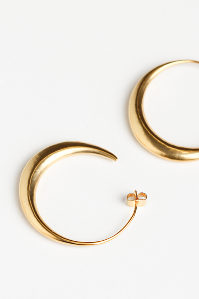 OLIVIA NZ Store online | Otto Hoop Large Earrings/ Gold