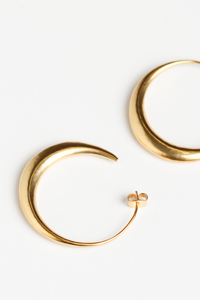OLIVIA NZ Store online | Otto Hoop Large Earrings/ Gold |