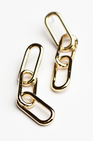 OLIVIA NZ Store online | Etta Chain Earrings / Gold