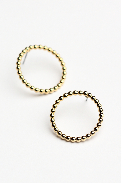 OLIVIA NZ Store online | Miley Circle Earrings / Gold