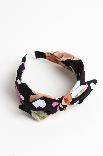 OLIVIA NZ Store online | Rose Headband / Navy |