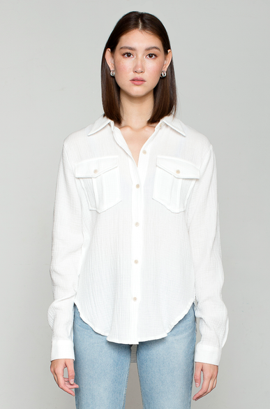 OLIVIA NZ Store online | Muslin Pocket Shirts / Cream
