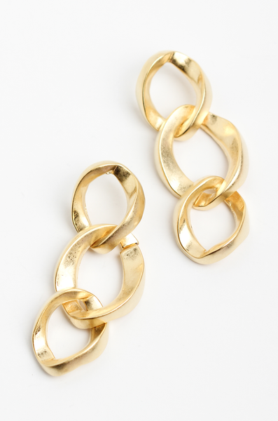 OLIVIA NZ Store online | Kendra Chain Earrings / Gold