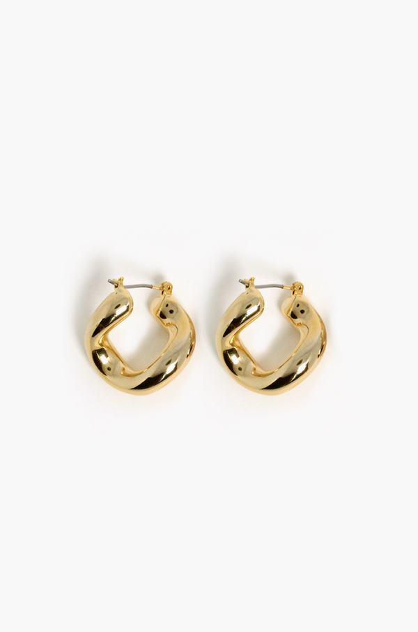 Mariner Hoop Earrings / Gold